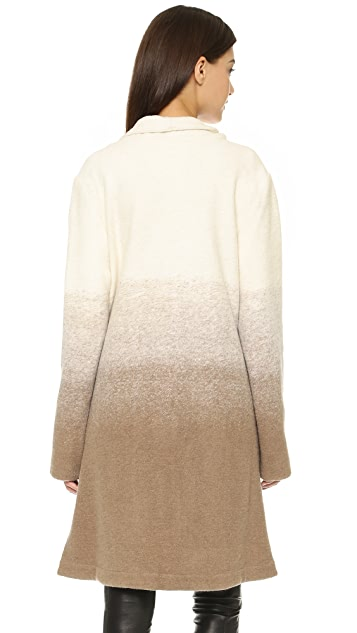 BB Dakota Emerson Ombre Fuzzy Wool Coat