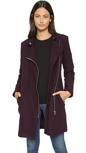 Bb Dakota Grayson Coat - Aubergine