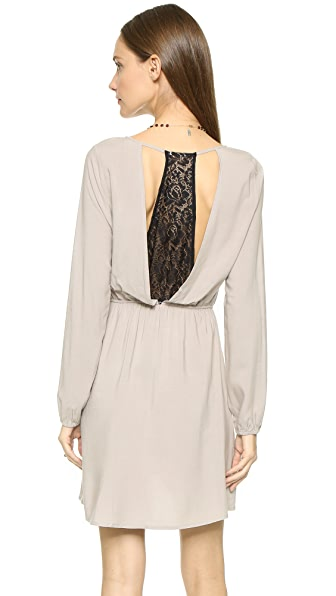 Bb Dakota Jack By Bb Dakota Leni Lace Trim Dress - Wheat Beige
