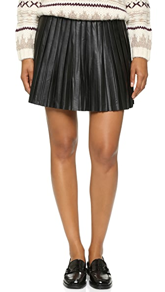 Bb Dakota Jack Blaze Pleated Skirt - Black