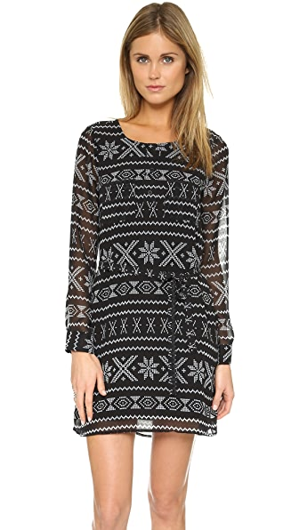 Bb Dakota Jack Bede Printed Dress - Black