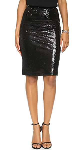 Bb Dakota Josie Sequin Pencil Skirt - Black