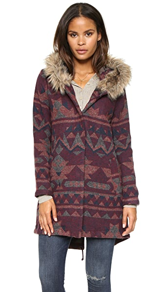 BB Dakota Dusty Patterened Jacquard Coat