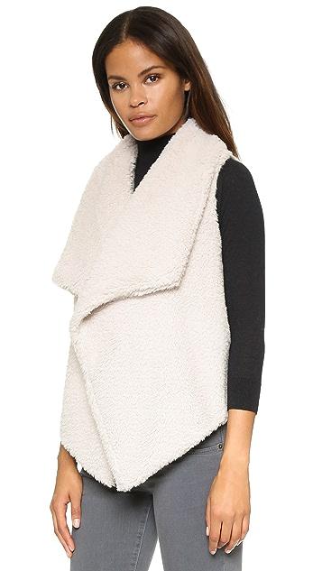 BB Dakota Rennie Sweater Vest with Faux Fur
