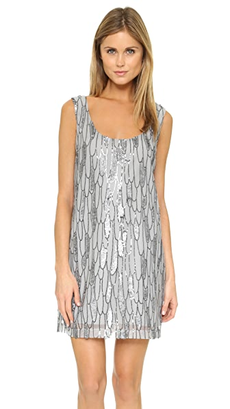 Bb Dakota Roselynn Sequin Tank Dress - Silver