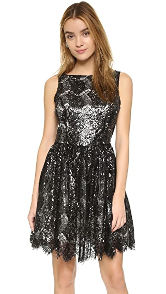 Bb Dakota Sabrina Sequin Lace Dress - Black