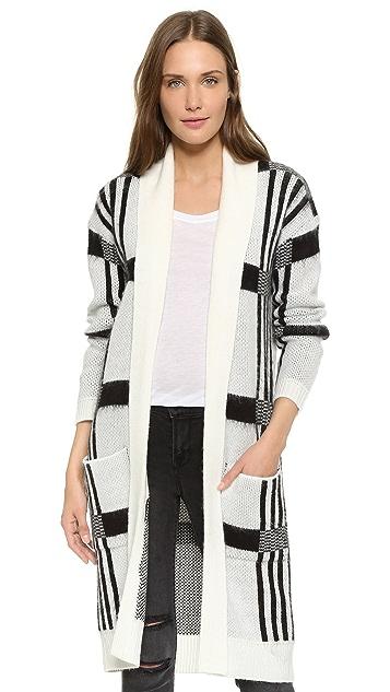 BB Dakota Mobley Plaid Cardigan Sweater