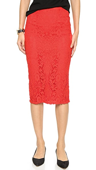 Bb Dakota Nadia Lace Pencil Skirt - Blaze