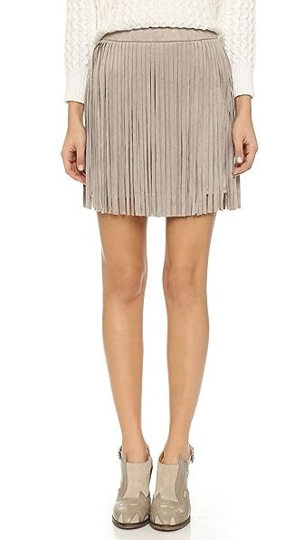 Bb Dakota Fringe Skirt - Toffee
