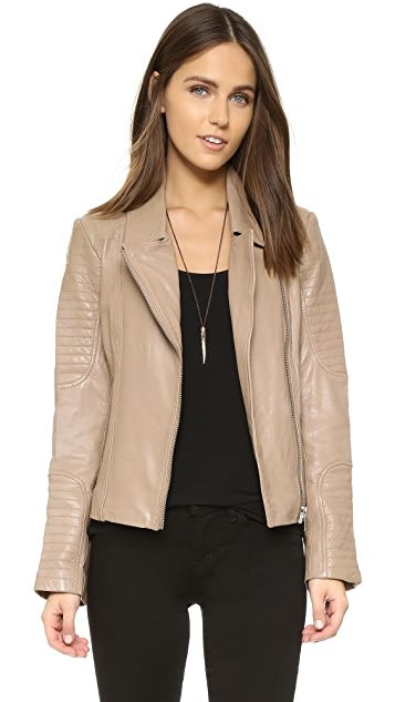 BB Dakota Elias Leather Moto Jacket