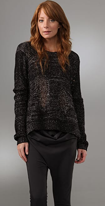 BCBGMAXAZRIA Drop Shoulder Pullover Sweater