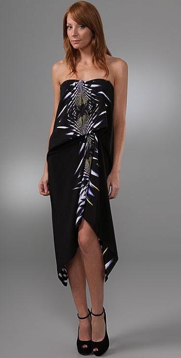 BCBGMAXAZRIA Strapless Draped Dress