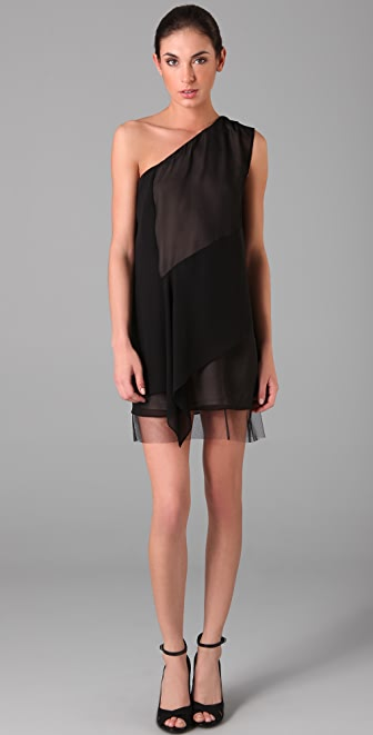 BCBGMAXAZRIA Marike One Shoulder Dress