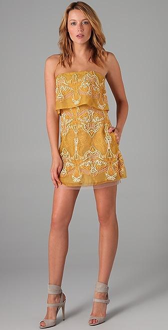 BCBGMAXAZRIA Samantha Tiered Dress
