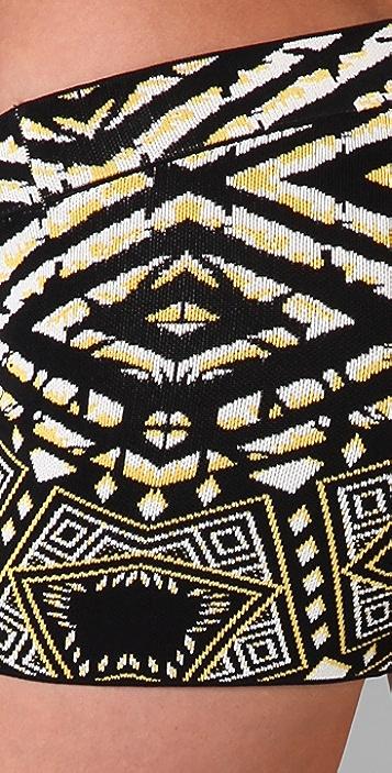 BCBGMAXAZRIA Tobyn Tribal Print Shorts