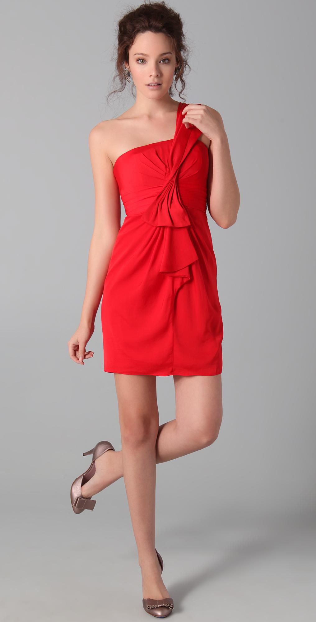 BCBGMAXAZRIA Palais One Shoulder Dress | SHOPBOP