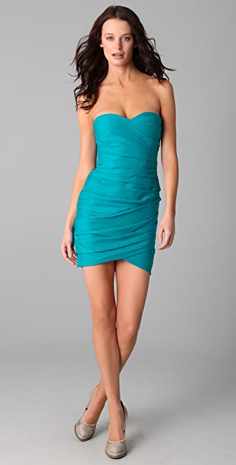 BCBGMAXAZRIA Madge Strapless Cocktail Dress
