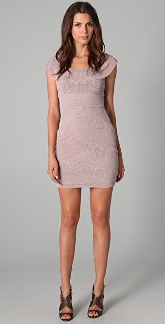 BCBGMAXAZRIA Briana Pleated Dress