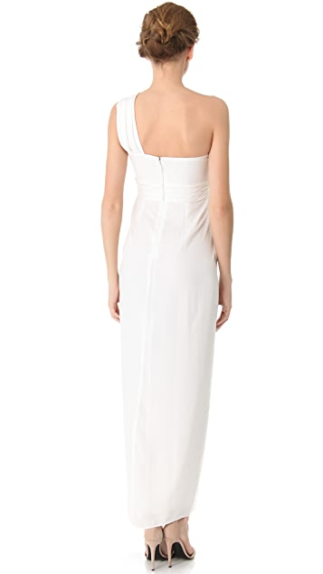 BCBGMAXAZRIA Barbara One Shoulder Gown