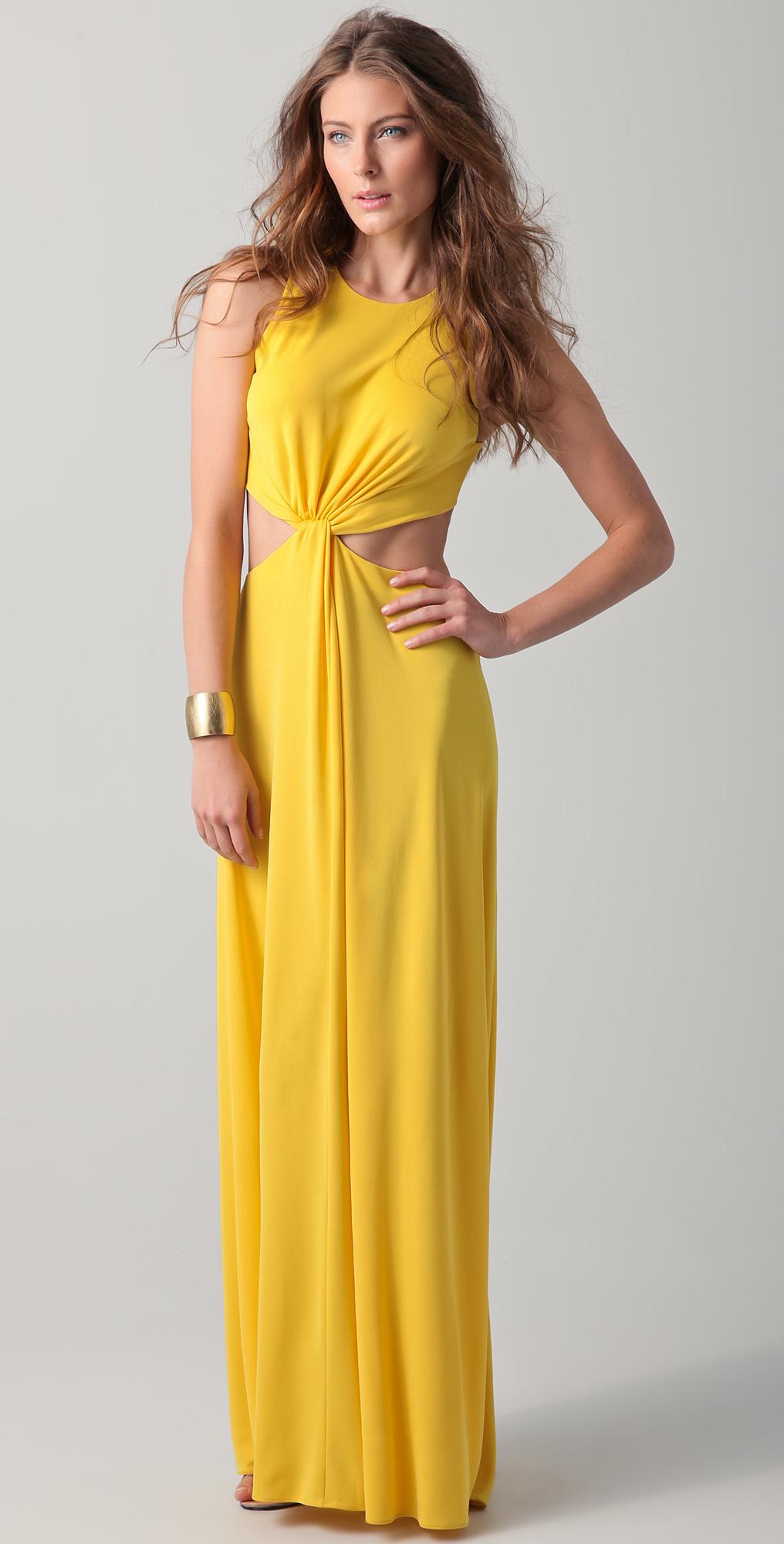 BCBGMAXAZRIA Olesya Draped Cutout Gown | SHOPBOP