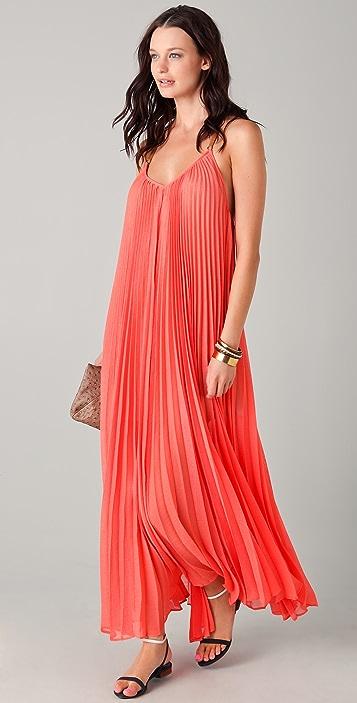BCBGMAXAZRIA Edita Pleated Maxi Dress