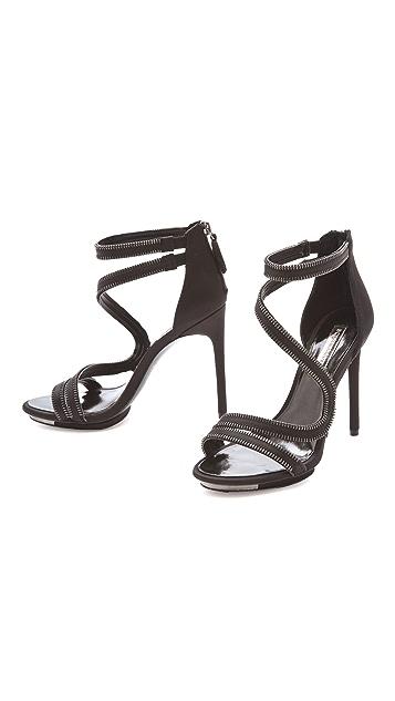BCBGMAXAZRIA Leela Zipper Sandals