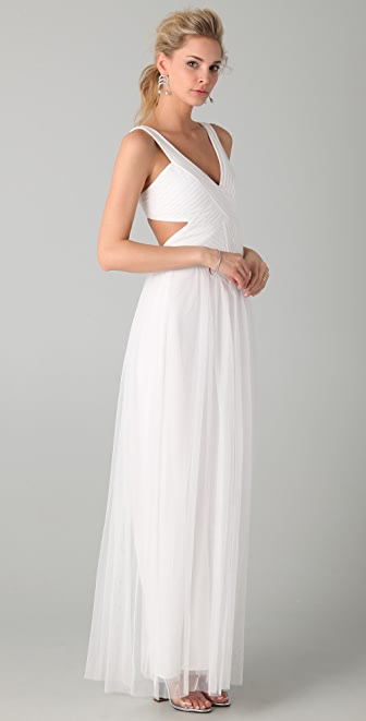 BCBGMAXAZRIA Mara Open Back Gown