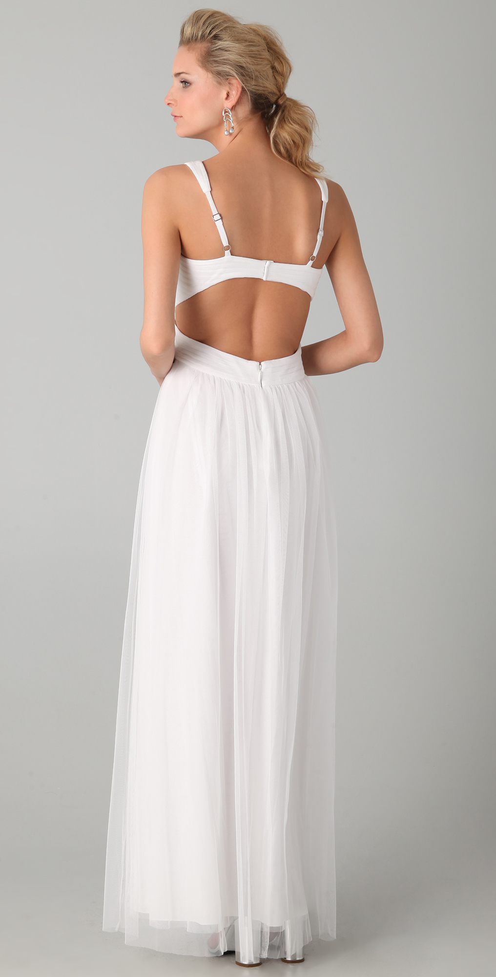 BCBGMAXAZRIA Mara Open Back Gown | SHOPBOP