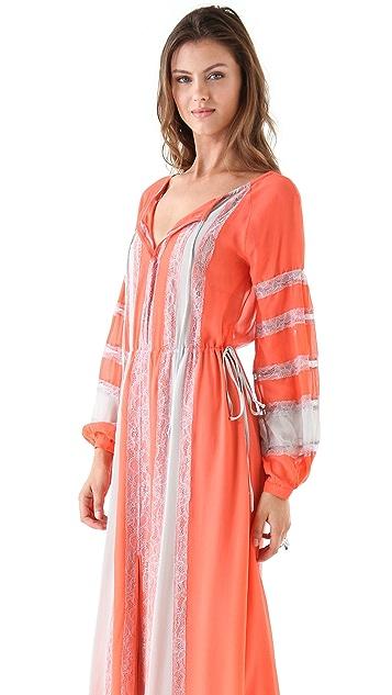 BCBGMAXAZRIA Elicia Peasant Maxi Dress