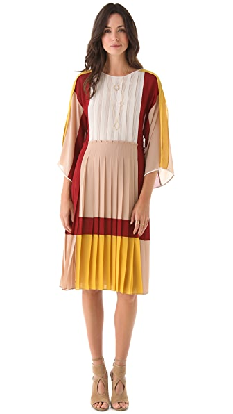 BCBGMAXAZRIA Gwenna Colorblock Dress
