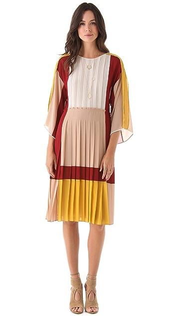 BCBGMAXAZRIA Gwenna Colorblock Dress