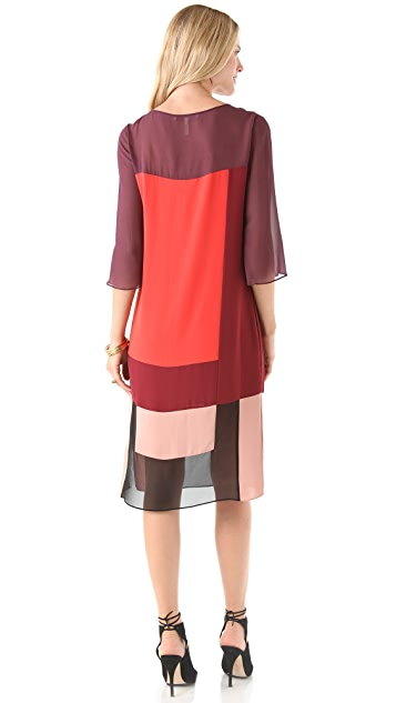 BCBGMAXAZRIA Ivey Colorblock Dress