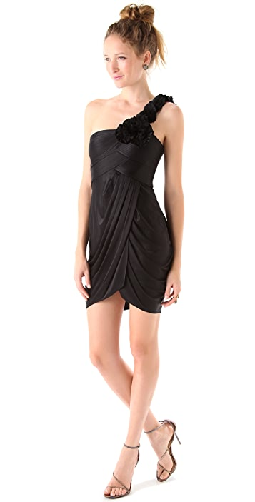 BCBGMAXAZRIA One Shoulder Dress