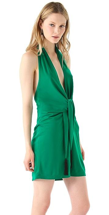 BCBGMAXAZRIA Lella Short Halter Dress
