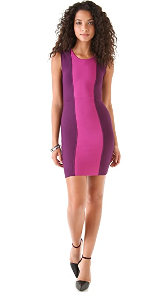 BCBGMAXAZRIA Aliza Color Block Dress