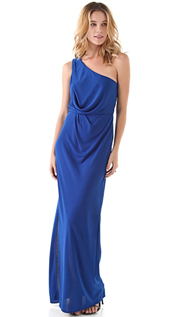 BCBGMAXAZRIA Snejana One Shoulder Gown