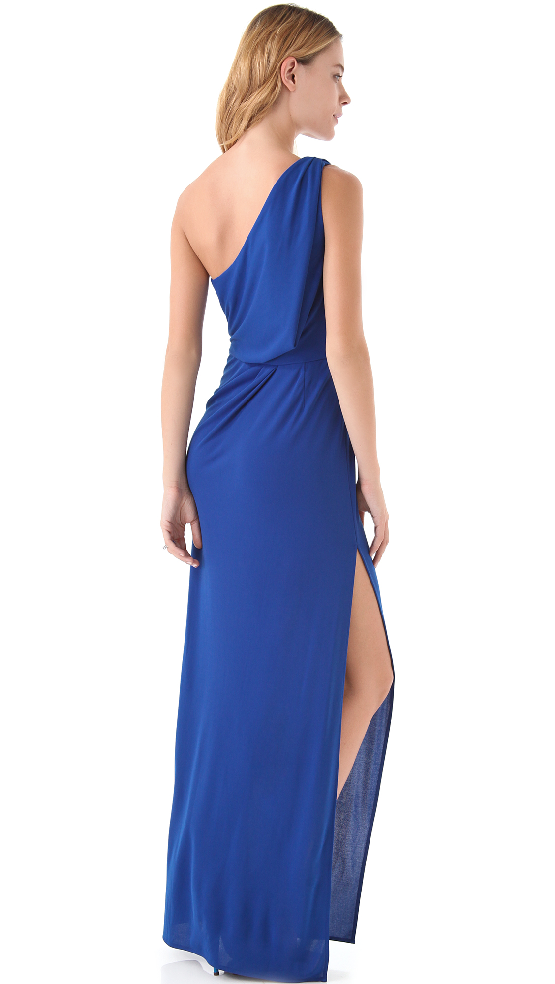 b79ddd8137 BCBGMAXAZRIA Snejana One Shoulder Gown