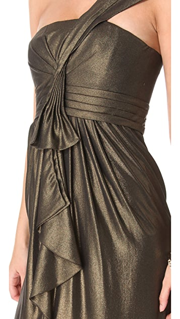 BCBGMAXAZRIA Barbara Shoulder Dress