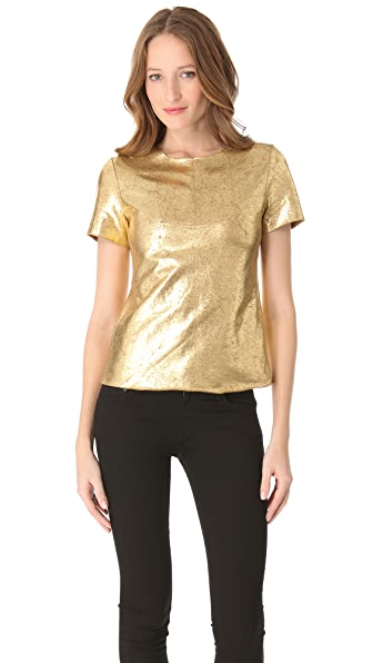 BCBGMAXAZRIA Ara Short Sleeve Top
