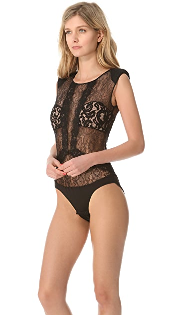 BCBGMAXAZRIA Lace Bodysuit