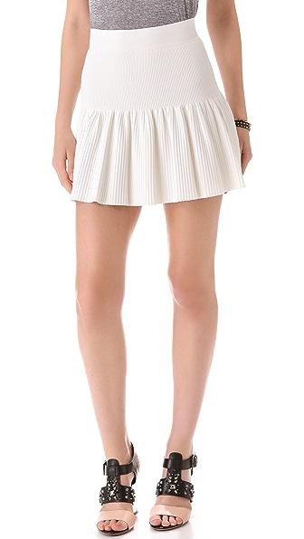 BCBGMAXAZRIA Valeria Ruffle Hem Skirt