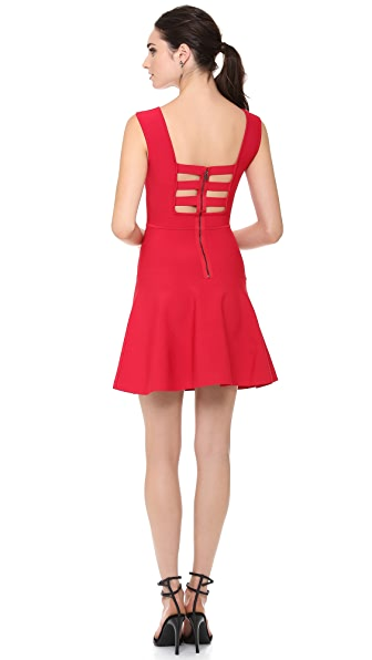 BCBGMAXAZRIA Cutout Zip Back Dress