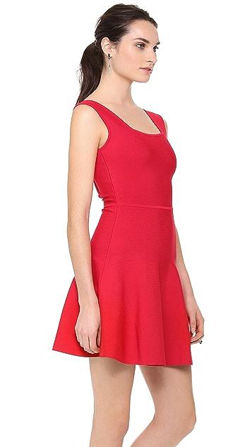 BCBGMAXAZRIA Cutout Zip Back Dress
