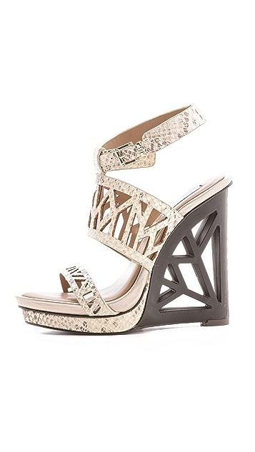 BCBGMAXAZRIA Sato Wedge Sandals
