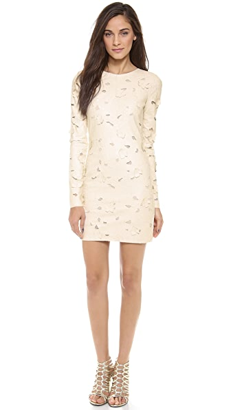 BCBGMAXAZRIA Long Sleeve Cutout Dress