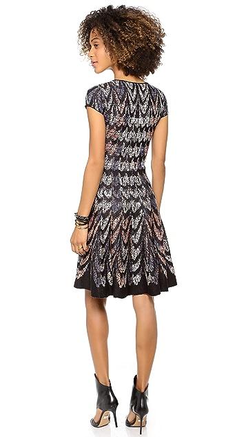BCBGMAXAZRIA V Neck Sweater Dress