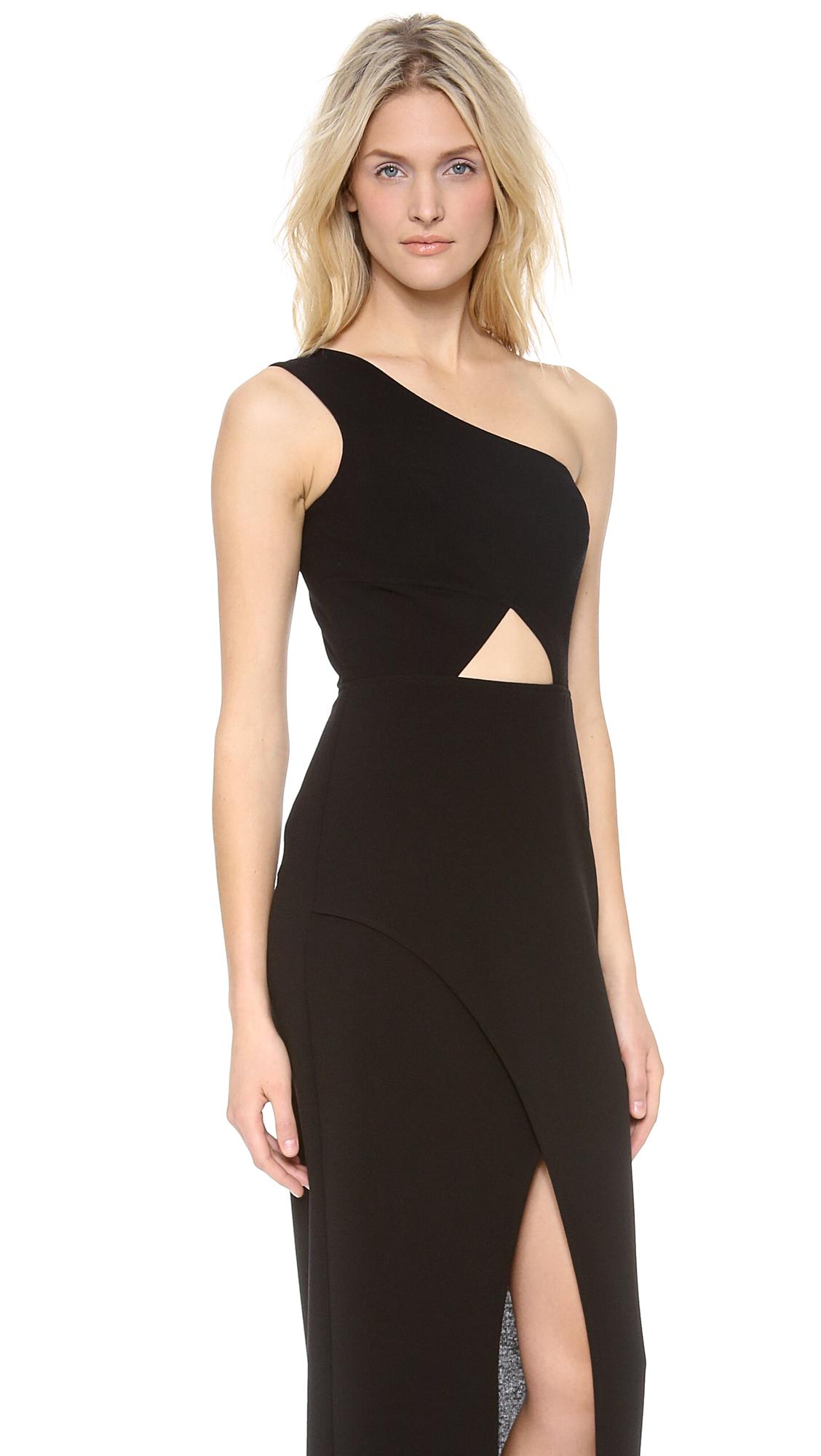 BCBGMAXAZRIA Kauri One Shoulder Maxi Dress | SHOPBOP
