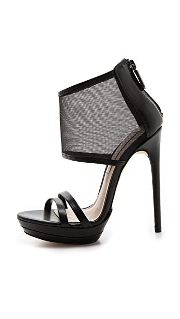 BCBGMAXAZRIA Ferned Mesh Cuff Sandals