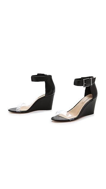 BCBGMAXAZRIA Latch Wedge Sandals