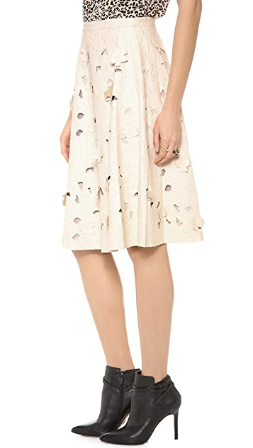 BCBGMAXAZRIA Elsa Faux Leather Skirt